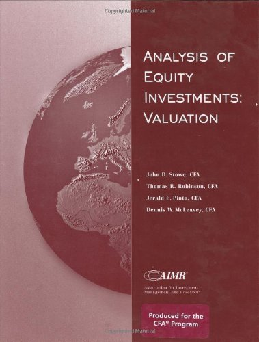 9780935015768: Analysis of Equity Investments: Valuation