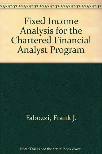 9780935015799: Fixed Income Analysis for the Chartered Financial Analyst Program