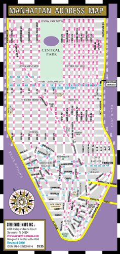 9780935039016: Streetwise Manhattan Address Map - Laminated Address Map of Manhattan, NY: Folding Pocket & Wallet Size Map for Travel