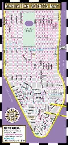 9780935039016: Streetwise Manhattan Address Map - Laminated Address Locator Map for Manhattan, NY - Folding pocket & wallet size map for travel