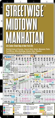 9780935039047: Streetwise Midtown Manhattan Map - Laminated City Street Map of Midtown Manhattan, NY: Folding Pocket Size Travel Map