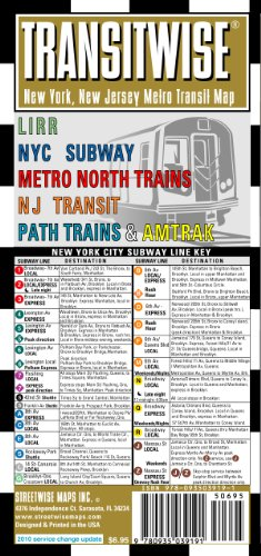 9780935039191: Streetwise Transitwise New York, New Jersey Metro Transit Map