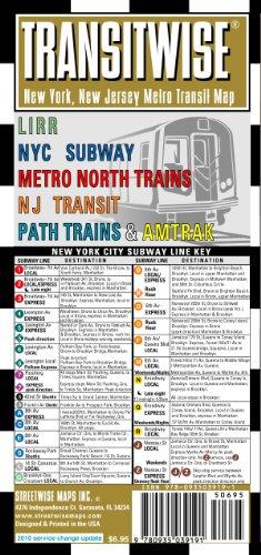 9780935039191 Streetwise Transitwise Map Laminated New York Metropolitan Commuter Rail Map Folding Pocket
