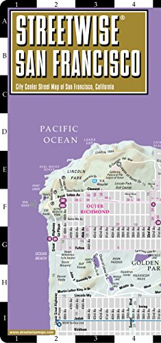 9780935039207: Streetwise San Francisco Map - Laminated City Center Street Map of San Francisco, California - Folding pocket size travel map with BART map, MUNI lines, bus routes