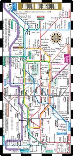 9780935039337: Streetwise London Underground Map - The Tube - Laminated London Metro Map - Folding pocket & wallet size metro map for travel
