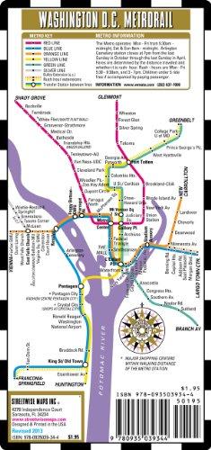 9780935039344: Streetwise Washington DC Metro Map - Laminated Washington DC Metrorail Map - Folding pocket & wallet size metro map for travel