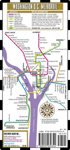 Streetwise Washington DC Metro Map Laminated Washington DC