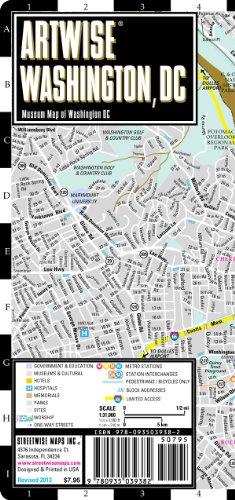 9780935039382: New Artwise Washington, DC, Laminated Museum Map (Streetwise Maps)