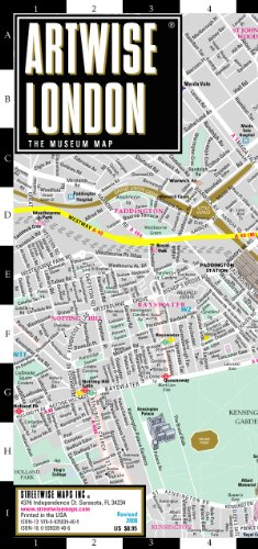 9780935039405: Artwise London Museum Map - Laminated Museum Map of London, England