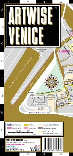 Artwise Venice Museum Map - Laminated Museum Map of Venice, Italy: Streetwise Maps