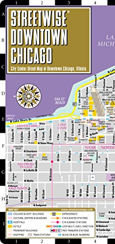 9780935039542: Streetwise Downtown Chicago Map - Laminated Street Map of Downtown Chicago, Illinois