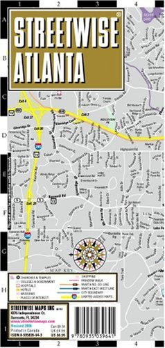 9780935039641: Streetwise Atlanta Map - Laminated City Center Street Map of Atlanta, Georgia - Folding pocket size travel map with Marta metro lines