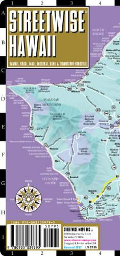 9780935039795: Streetwise Hawaii Map - Laminated State Road Map of Hawaii