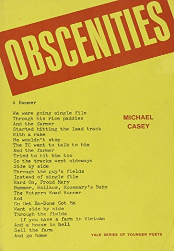 Obscenities (0935102256) by Michael Casey
