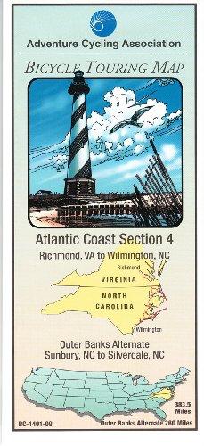 9780935108163: Bicycle Touring Map: Atlantic Coast #4