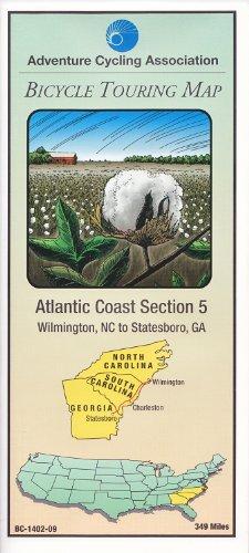 9780935108170: Bicycle Touring Map: Atlantic Coast #5