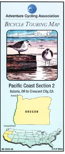 Bicycle Touring Map: Pacific Coast Section 2: Adventure Cycling Assoc.