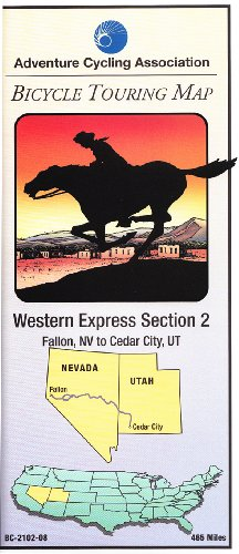 9780935108620: Bicycle Touring Map: Western Express Section 2