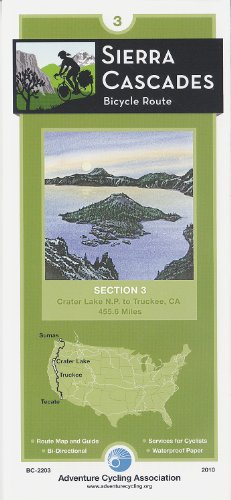 Sierra Cascades Bicycle Route #3: Crater Lake NP, or - Truckee, CA (459 Miles): Adventure Cycling ...