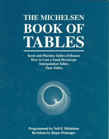 The Michelsen Book of Tables: Koch and Placidus Tables of Houses How to Cast a Natal Horoscope ...