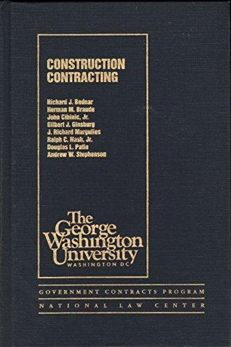 Construction Contracting: Bednar, Richard J.;