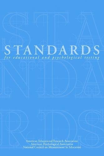 9780935302257: Standards for Educational and Psychological Testing 1999