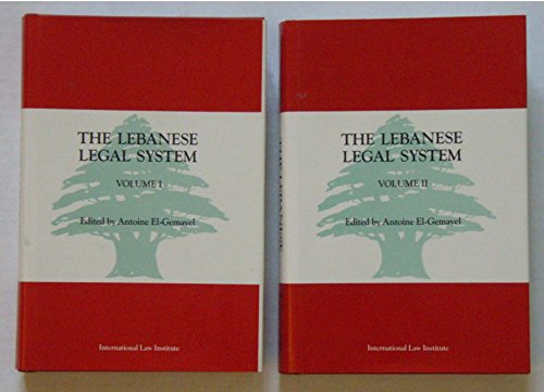 LEBANESE LEGAL SYSTEM 2 VOL SET: EL-GEMAYEL, ANTOINE ELIAS