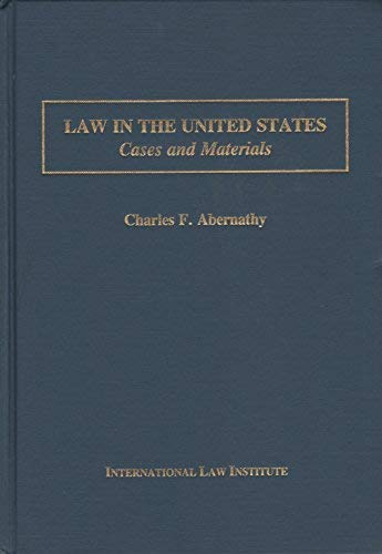 9780935328769: Law in the United States: Cases and Materials