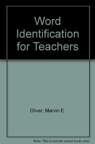 9780935435009: Word Identification for Teachers