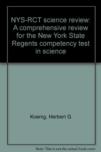 9780935487008: NYS-RCT science review: A comprehensive review for the New York State Regents competency test in science
