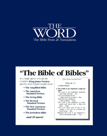 9780935491012: The Word: The Bible from 26 Translations/Bonded Leather