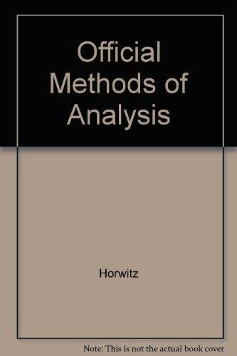 OFFICIAL METHODS OF ANALYSIS OF THE ASSOCIATION: Williams, Sidney
