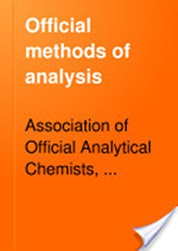 Official Methods of Analysis of the Association: Helrich, Kenneth