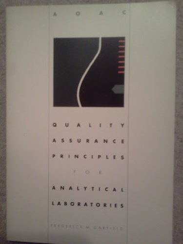 9780935584462: Quality Assurance Principles for Analytical Laboratories