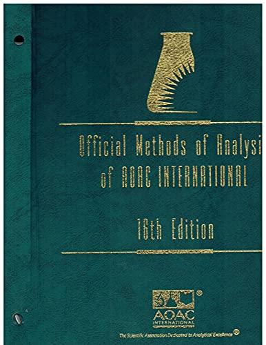 9780935584547: Official Methods of Analysis of Aoac International (2 Binders)