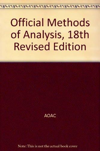 9780935584806: 18-3: Official Methods of Analysis