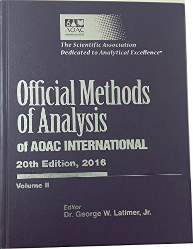 Official Methods of Analysis of AOAC INTERNATIONAL,