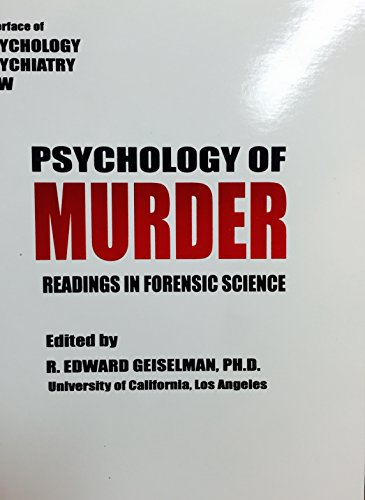 9780935645026: Psychology of Murder : Readings in Forensic Science
