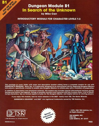 9780935696042: In Search of the Unknown (Dungeons & Dragons Module B1) (Dungeon module)