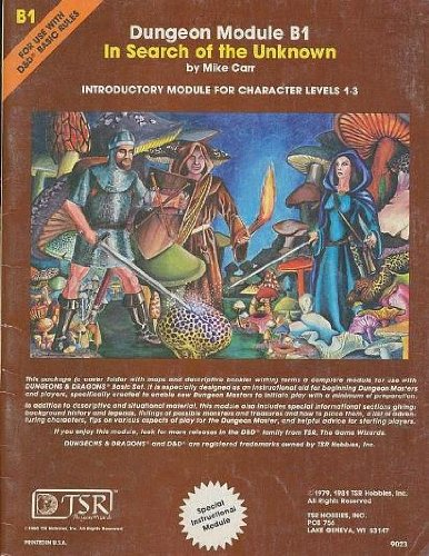 In Search of the Unknown (Dungeons & Dragons Module B1) (Dungeon module): Carr, Mike