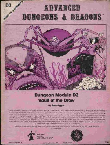 Dungeon Module D3 - Vault of the: Gary Gygax