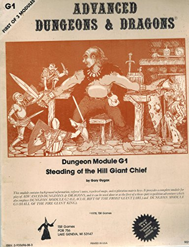 9780935696080: Dungeons and Dragons Advanced Dungeon Module 1 (Steading of the Hill Giant Chief, First Of 3 Modules)
