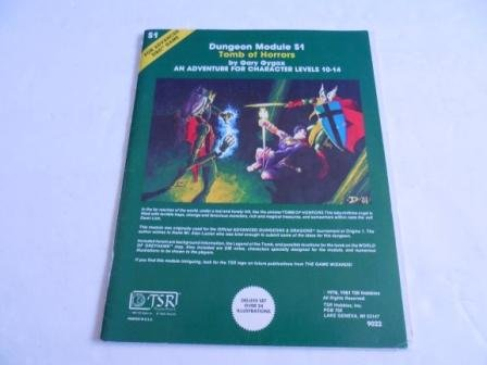 Tomb of Horrors: Dungeon Module S1 Deluxe: Gygax, Gary