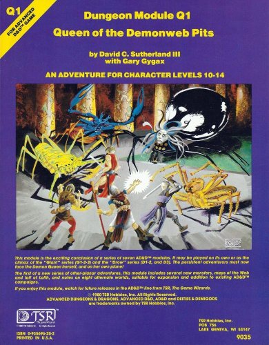 Dungeon Module Q1: Queen of the Demonweb Pits (Advanced Dungeons & Dragons): David Sutherland ...