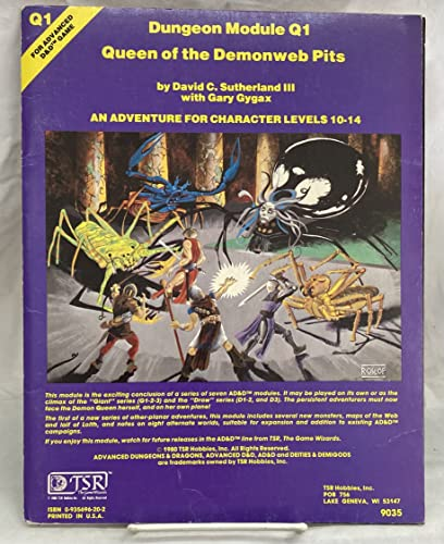 9780935696202: Dungeon Module Q1: Queen of the Demonweb Pits (Advanced Dungeons & Dragons)