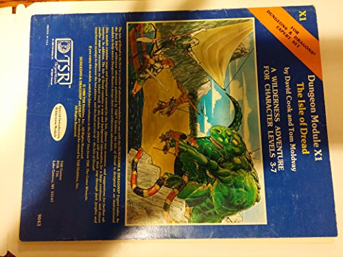 9780935696301: The Isle of Dread (D&D Fantasy Roleplaying, Expert Set, Module X1, Book+Map(s)