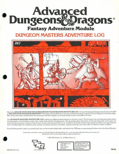 9780935696356: Dungeon Masters Adventure Log (AD&D 1st edition)