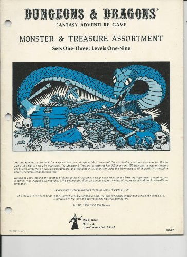 9780935696363: Dungeons & Dragons Monster & Treasure Assortment: Set One-Three: Levels One-Nine