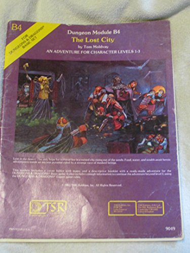 The Lost City (Dungeons and Dragons Module B4): Moldvay, Tom