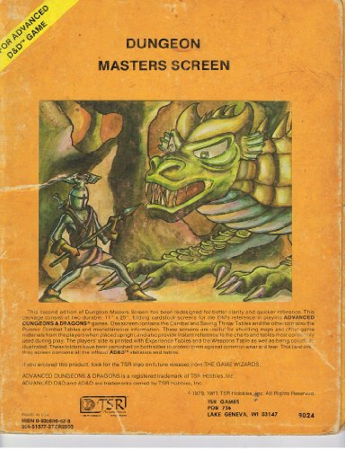 Dungeon Masters Screen (For Advanced D& D Game)